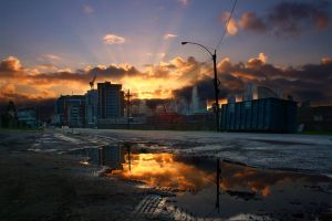 Docklands Sunrise HDR by Braunaudio