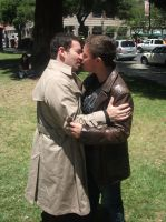 Cosplay: Dean and Castiel 14 by SharysAogail