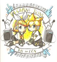 Cute Rin and Len by Neon-Juma