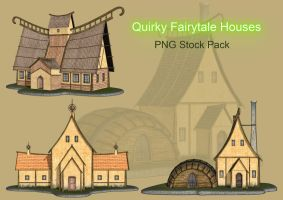 Quirky Fairytale House PNG Stock by Roys-Art