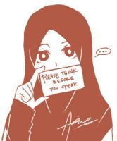 Think before you speak by aienahana