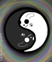 Yin Yang Bunnies by PEPPERsLAUGHTER