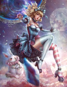 Rewritten Artbook: Alice in Crystal Wonderland by serafleur