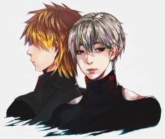 Kaneki And Hide by 017m