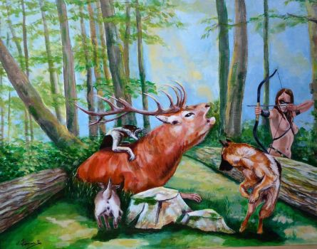 The Death of Actaeon by vinny53