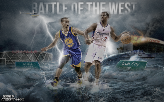 Curry vs CP3 'Battle of the West' | Wallpaper by ClydeGraffix
