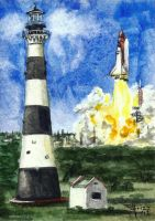 Cape Canaveral Light ACEO by frizz-art