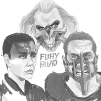 Fury Road Greyscale Practice by CotyP