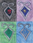 Big Four Shadowhunter Crests by Frie-Ice