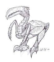 Bird-insect-scale-Creature by lill