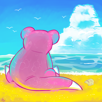 Slowpoke and the Sea by raizy