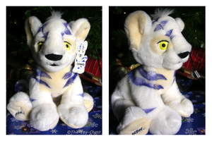 Neopets White Kougra Plushie by The-Toy-Chest