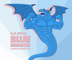 Very very ' Blue ' Dragon by OutLeaf