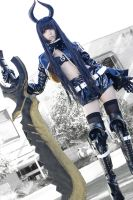 Black Gold Saw_Black Rock Shooter by AMPLE-COSPLAY