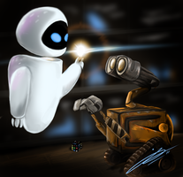Wall E and EVE by Jord-UK