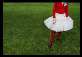 lush grass and poofy skirts. by heartichokes