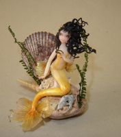 Goldfish Mermaid - Gold by Fairiesworkshop