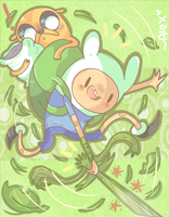 Finn used leaf blade! by chibiirose