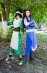 Katara and Toph by TophWei
