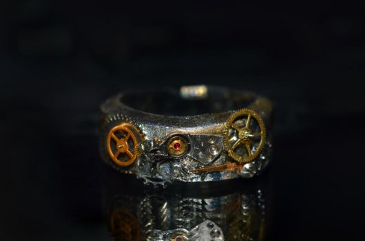 Steampunk ring VIDEO tutorial by trollwaffle