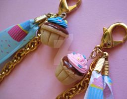 Birthday Cupcake Bag Charm 3 by FatallyFeminine