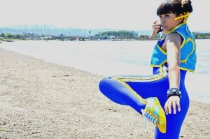 Chun Li Alpha Cosplay - Beach by LexLexy