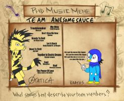 PMDE music meme - Team AWESOMESAUCE by FeralSonic