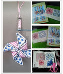 Windmill Mobilephone straps from Cross stitch! by Katezath
