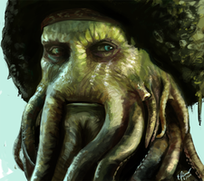 Davy Jones - redraw by elz-art