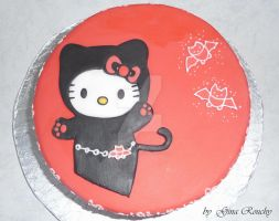 Hello Kitty Devil Cake by ginas-cakes