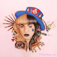 Melanie Martinez drawing by Danikas-Art26