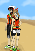 Brendan and May - Omega Ruby Alpha Sapphire by Yoje-chan
