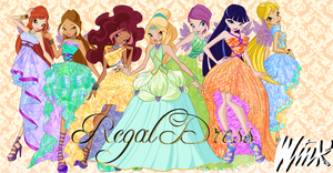 Winx Club Regal Dress Wallpaper by Wizplace