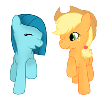 .:AT:. Blueberry and Applejack by KomaedaKitten