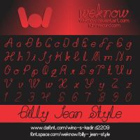 billy jean style font by weknow by weknow