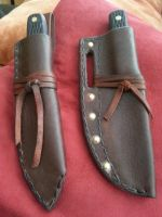Trapper knife sheaths by JoshSkaarup