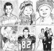 Family Personal Sketch Cards 1 by tdastick