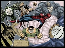 sinistersix verse spiderman by camillo1988