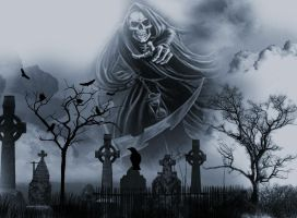 Cemetery Death by Vickie666