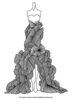 Fashion Lineart. 04 by anotherphilip