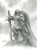 Arawn pencil by sebastien-grenier
