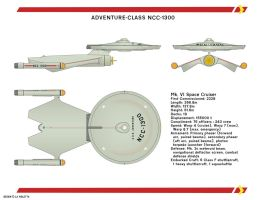 Adventure-class Starship by LaVioletta