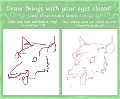 draw with eyes closed meme by Pirate-Reaper