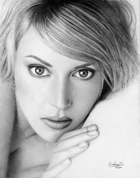 Kate Winslet Drawing by salomnsm