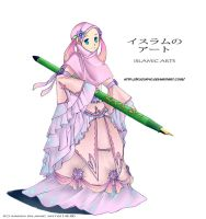 islamic arts girl by kuzuryo
