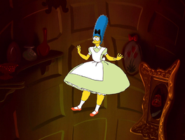 Marge Simpson floating down by darthraner83