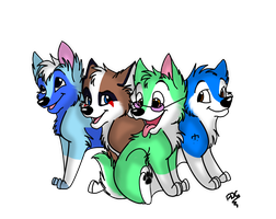 Wolf pups by catderson
