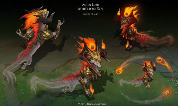 Ashen Lord Aurelion Sol by Yideth