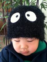 My Neighbor Totoro Dust Bunny Beanie by PandoraLuv