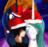 A Perfect Christmas Photo - HumanxPony by Dragk